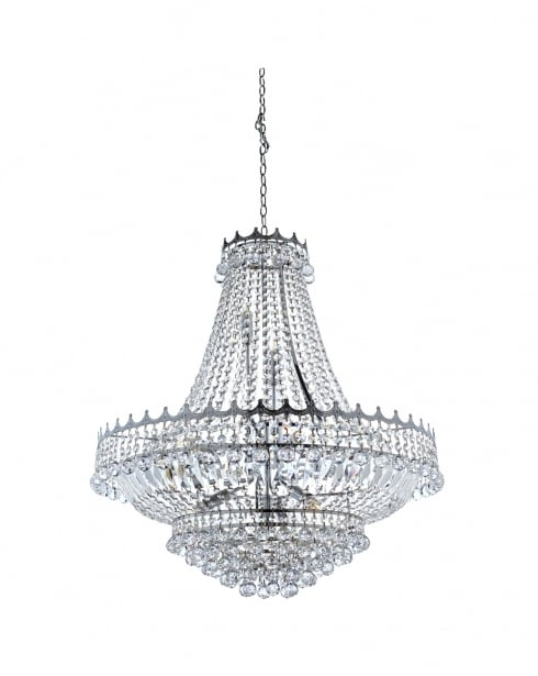 Searchlight Versailles Crystal Chrome Chandelier 9112-82CC