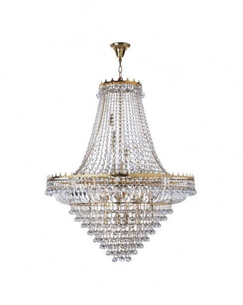 Searchlight Versailles Crystal Gold Chandelier 9112-102GO