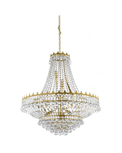 Searchlight Versailles Crystal Gold Chandelier 9112-82GO
