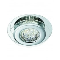 Searchlight Vesta Modern Chrome Flush Ceiling Fitting 1692CC