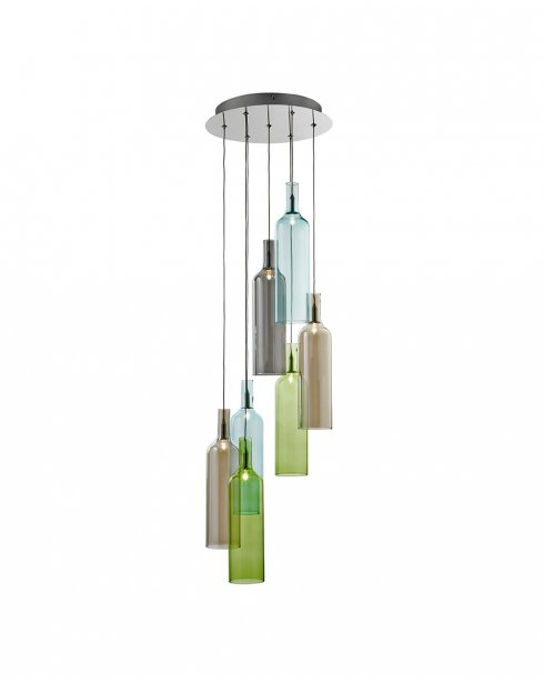 Searchlight Vibrant 7 Light Modern Pendant Light 7257-7