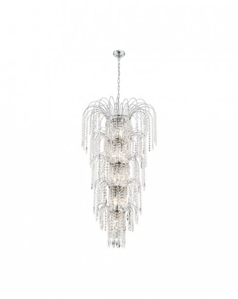 Searchlight Waterfall 13 Light Crystal Chandelier 1313-13CC