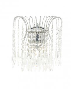 Searchlight Waterfall 2 Light Crystal Decorative Wall Light 4172-2