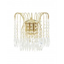 Searchlight Waterfall 2 Light Crystal Decorative Wall Light 5172-2