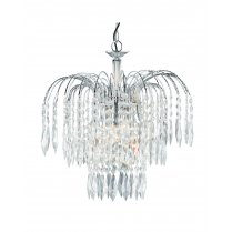 Searchlight Waterfall 3 Light Crystal Chandelier 4173-3