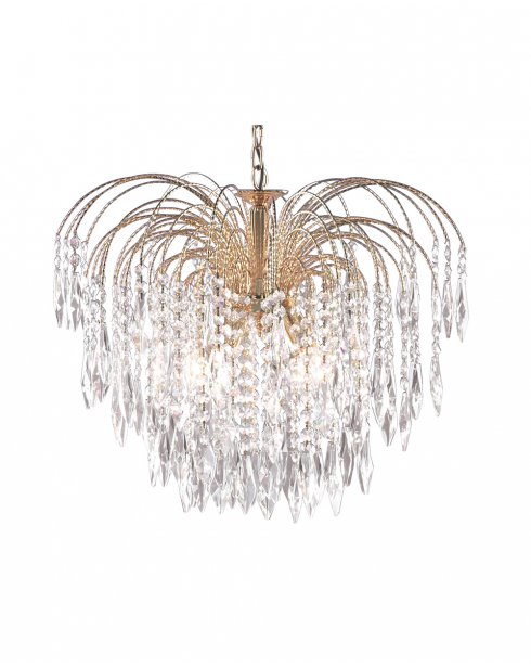Searchlight Waterfall 5 Light Crystal Pendant Light 5175-5