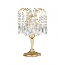 Searchlight Waterfall Single Light Crystal Incidental Table Lamp 5171