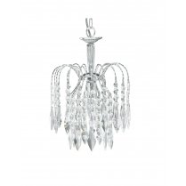 Searchlight Waterfall Single Light Crystal Pendant Light 4271-1