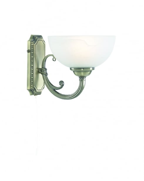 Searchlight Windsor Traditional Brass Decorative Wall Light 3771-1AB