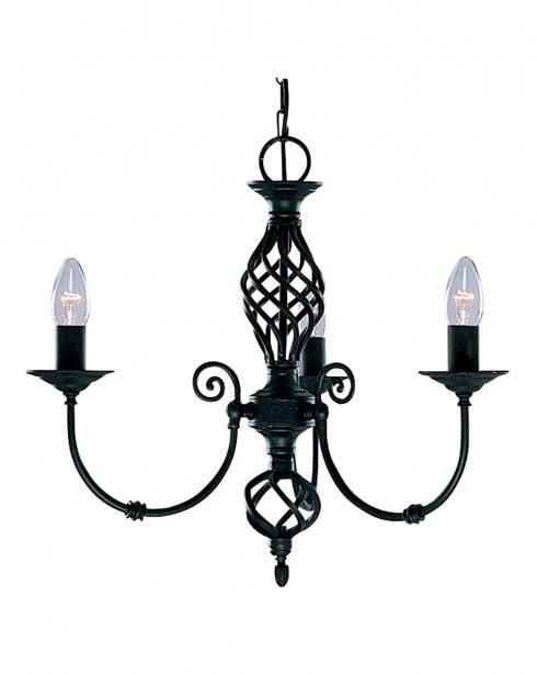 Searchlight Zanzibar 3 Light Traditional Chandelier 3379-3