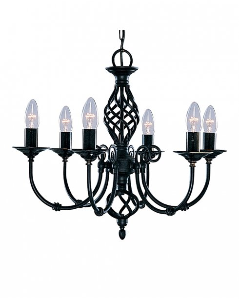 Searchlight Zanzibar 6 Light Traditional Chandelier 3379-6