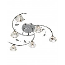 Searchlight Sierra 6 Light Traditional Semi-Flush Fitting 2636-6CC