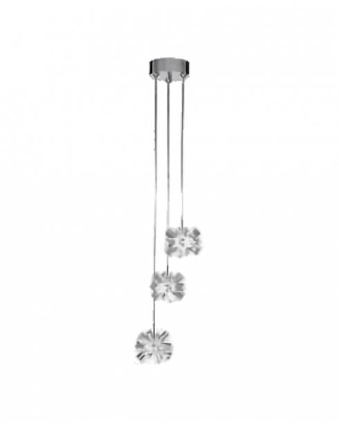 Searchlight Snowflake Pendant Light 9023-3CC