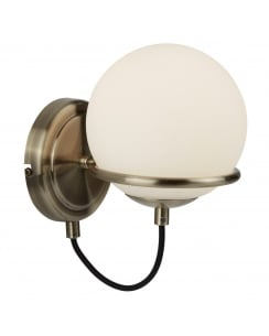Searchlight Sphere Decorative Wall Light 7091AB