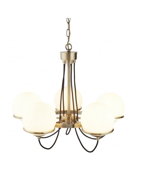Searchlight Sphere Multi-Arm Pendant 7095-5AB