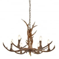 Searchlight Stag Chandelier 6416-6BR