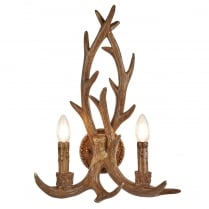 Searchlight Stag Decorative Wall Light 6412-2BR