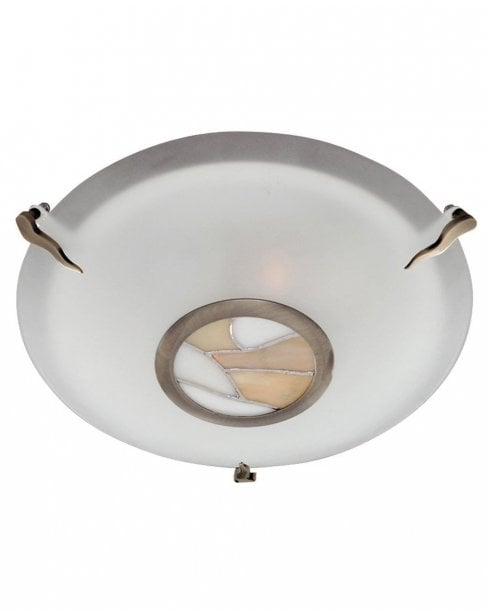 Searchlight Tiffany Flush Ceiling Fitting 36095AM