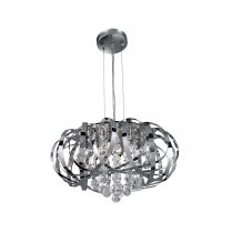 Searchlight Tilly 5 Light Crystal Pendant Light 6975-5CC