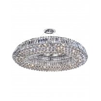 Searchlight Vesuvius 10 Light Crystal Pendant Light 9291CC