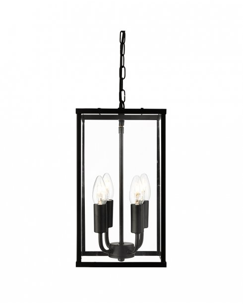 Searchlight 4244BK Voyager 4 Light Traditional Pendant