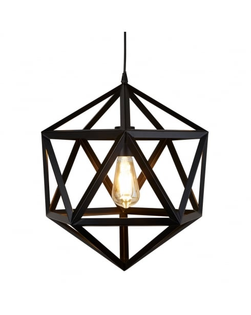 Searchlight Voyager Pendant Light 5701BK