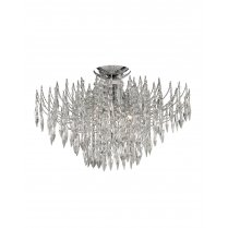Searchlight Waterfall 4 Light Crystal Semi-Flush Fitting 6134-4CC