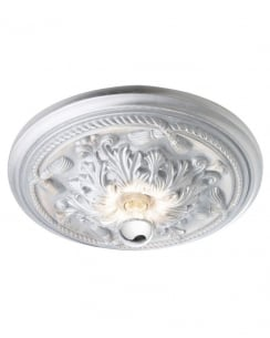Sompex Andro  Modern Silver Flush Ceiling Fitting 79102