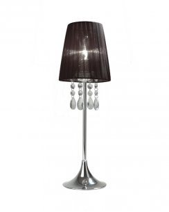 Sompex Organza  Modern Black Incidental Table Lamp 79279