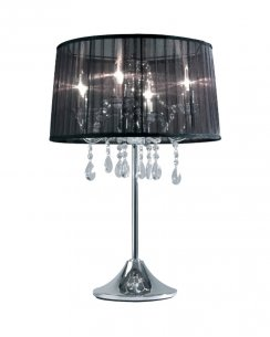 Sompex Organza Modern Black Incidental Table Lamp 79295