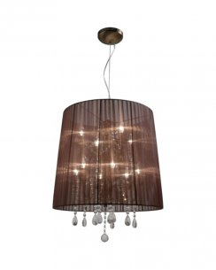 Sompex Organza  Modern Brown Chandelier 79353