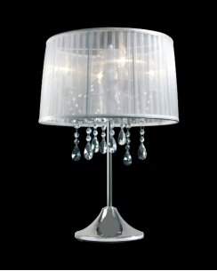 Sompex Organza  Modern White Incidental Table Lamp 79315