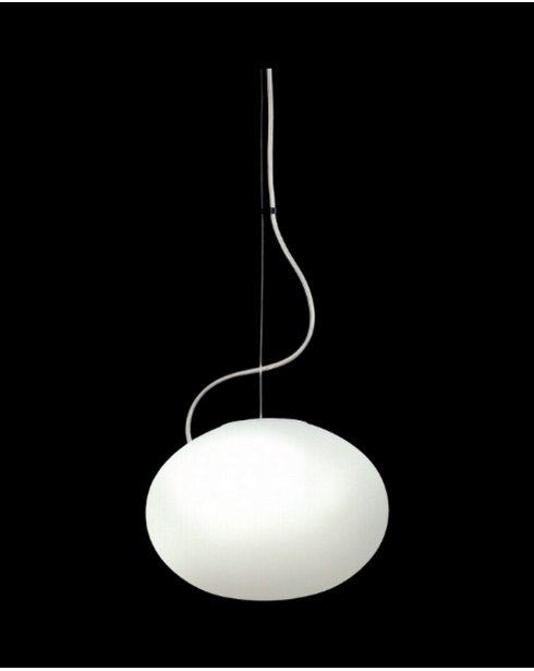 Sompex oval modern white glass pendant light 79681 aloadofball Image collections